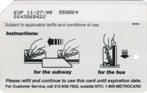 NYC Transit Metrocard Unofficial Web Site · Regular Metrocards