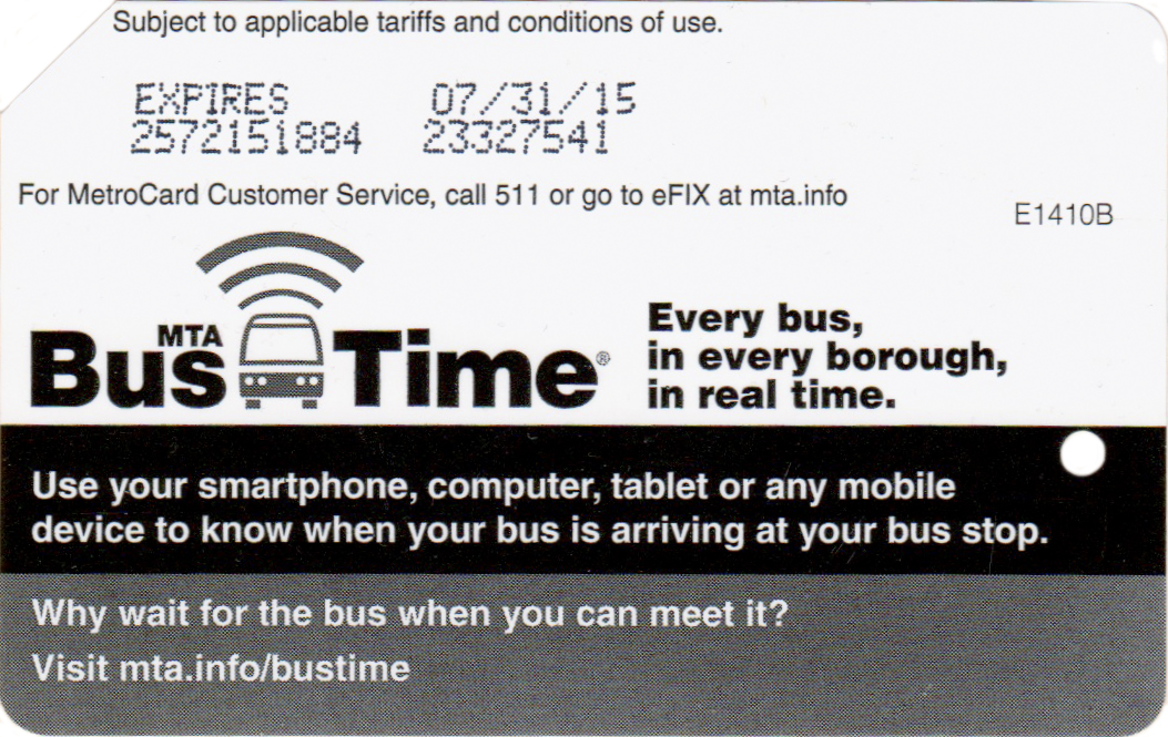 NYC Transit Metrocard Unofficial Web Site