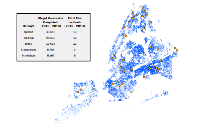 Illegal conversions map nyc