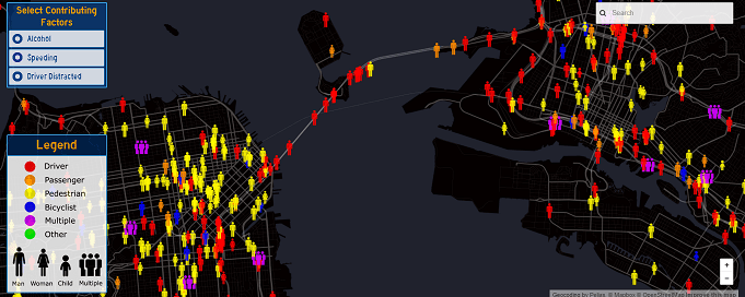 map of car accidents san francisco