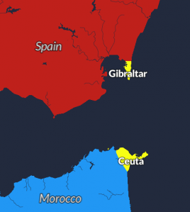 Map Of Spain Gibraltar And Morocco.Mapping Every Disputed Territory In The World Metrocosm