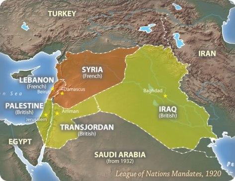 original middle east borders 1920