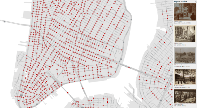 historical nyc photos map