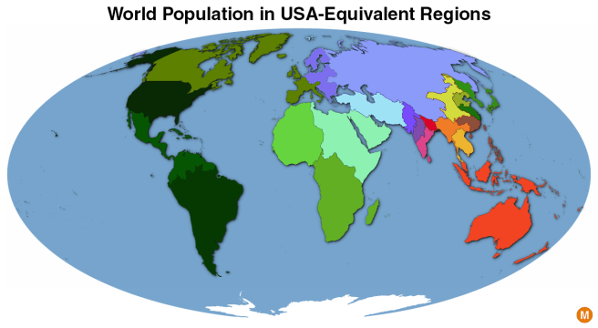 world population map in usa equivalents