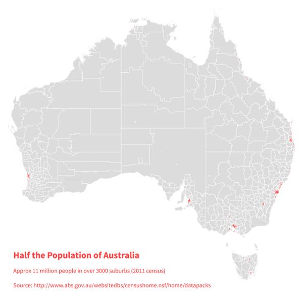 australia population map