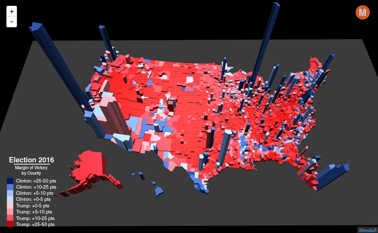 Election Results In The Third Dimension Metrocosm