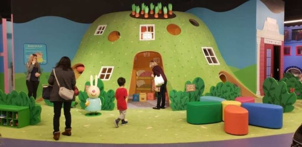 Peppa Pig World of Play Great Lakes Crossing Outlet Rebecca Rabbit's Underground Adventure
