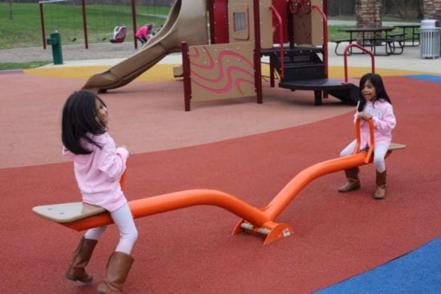 Teeter-totter at Lodge Playground