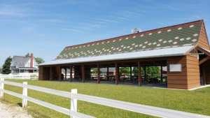 pavilion at The Petting Farm at Domino's Farms
