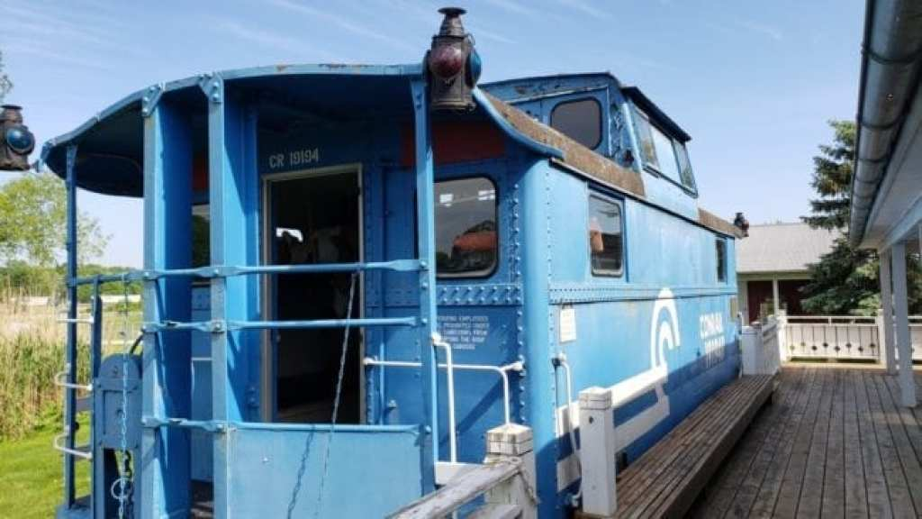 Caboose at Griffith Station in Ann Arbor
