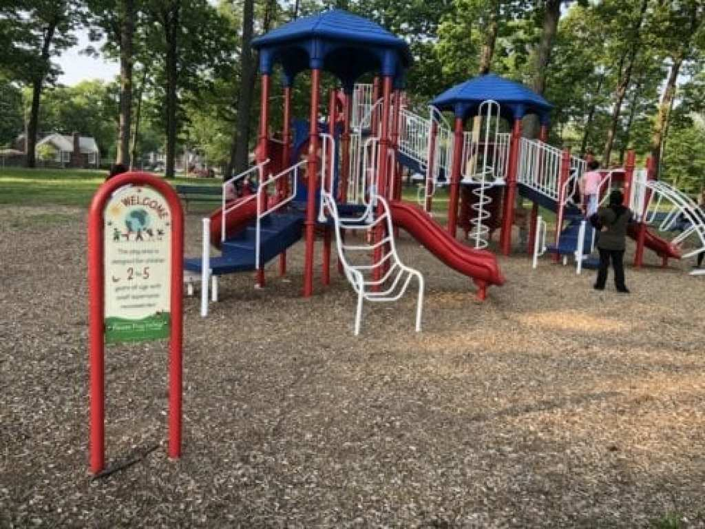 large play structure at Levagood Park
