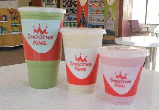 smoothies in different sizes