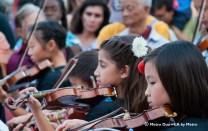 young girls playing violin