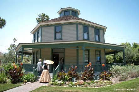 Octogon House, built in Pasadena in 1893, was moved to Heritage Square in 1986.