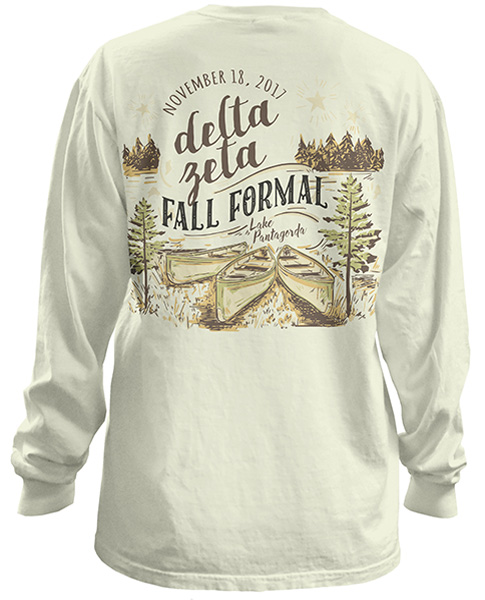 6080 Delta Zeta Lake Formal Tshirts  Greek Shirts