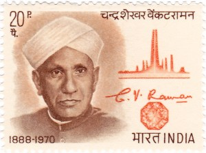 C.V. Raman. India Post, Government of India / GODL-India