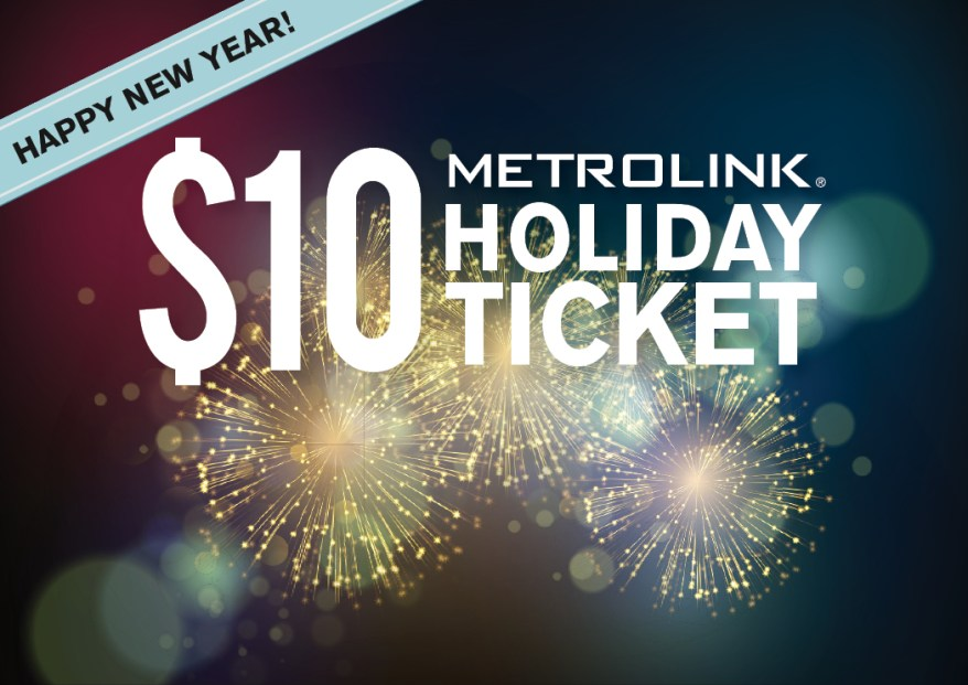Metrolink Christmas Train 2020 Sunday/Holiday Service and Early Trains Available on New Year's