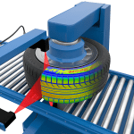 Gocator Profiler Sensor Meets Challenges of Low-Contrast Tire Scanning
