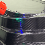 Carbon Fiber Parts Inspected With Wide Line Portable Laser Scanner