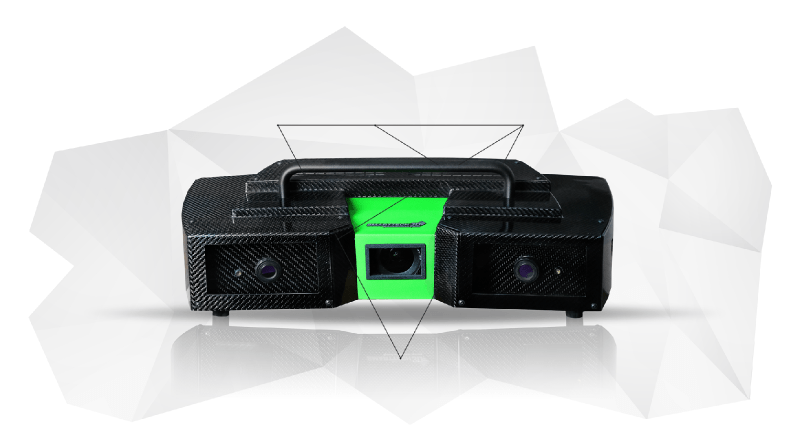 Green 3D Stereo Scanner Offers Double Directed Stripes