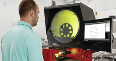 Benchtop Optical Comparator Range Extended