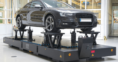 Mobile Fixture Plates Drive Vehicle Body Component Inspection