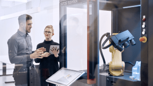 Scanned data generates digital twin to monitor manufacturing design intent