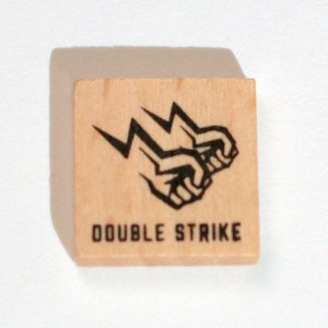 display the art of the double strike counter
