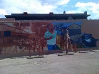 Idora neighborhood mural.