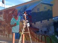 Idora neighborhood mural