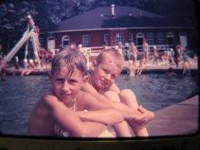 Swimming at South Park Pool in Youngstown in 1957. Courtesy of Dick Franco.