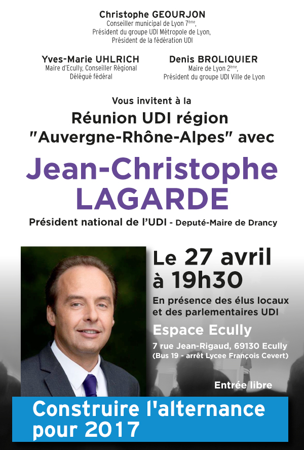 Réunion publique Jean christophe Lagarde - Mailing-grand-public-simple