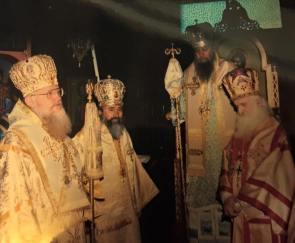 Hirotonia Episcopului Lazar Puhalo de care Mitropolitul Evloghios