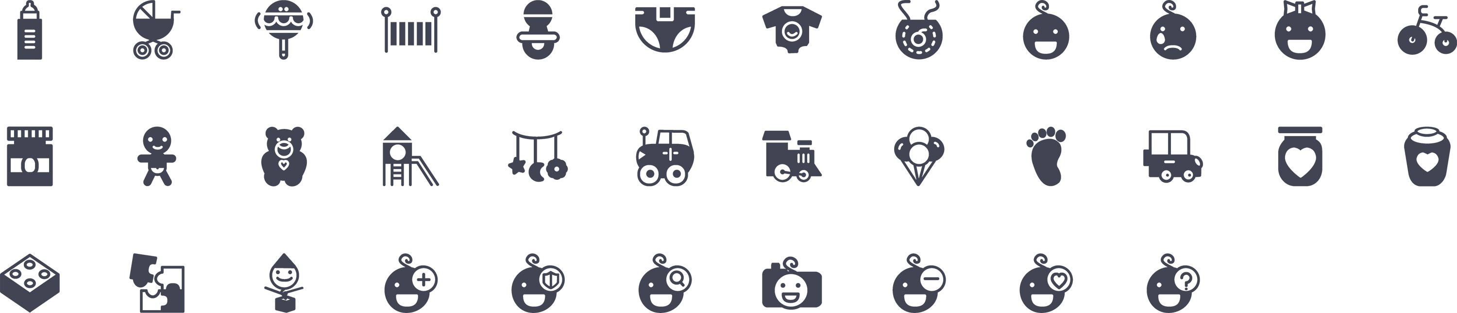 Baby Glyph Icons