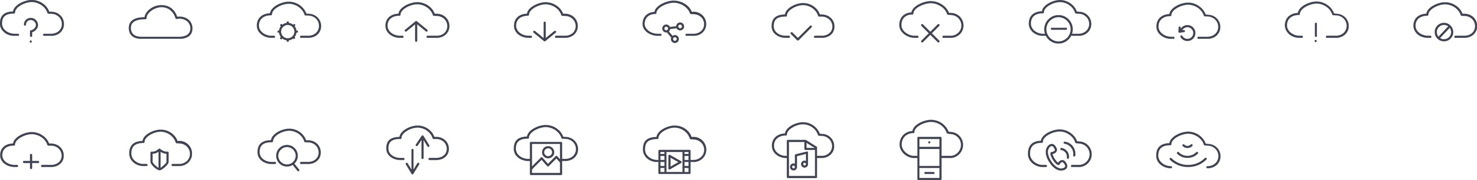 Clouds Line Icons