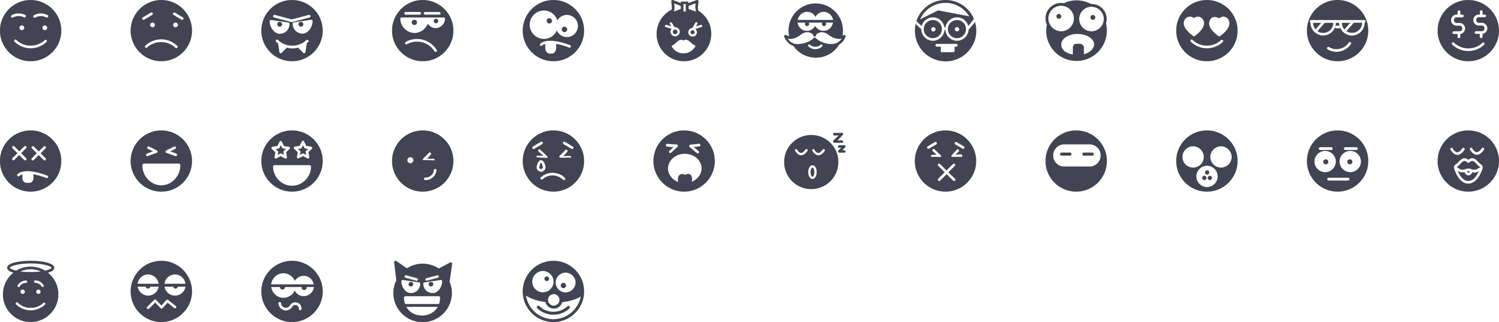 Emoticons Glyph Icons