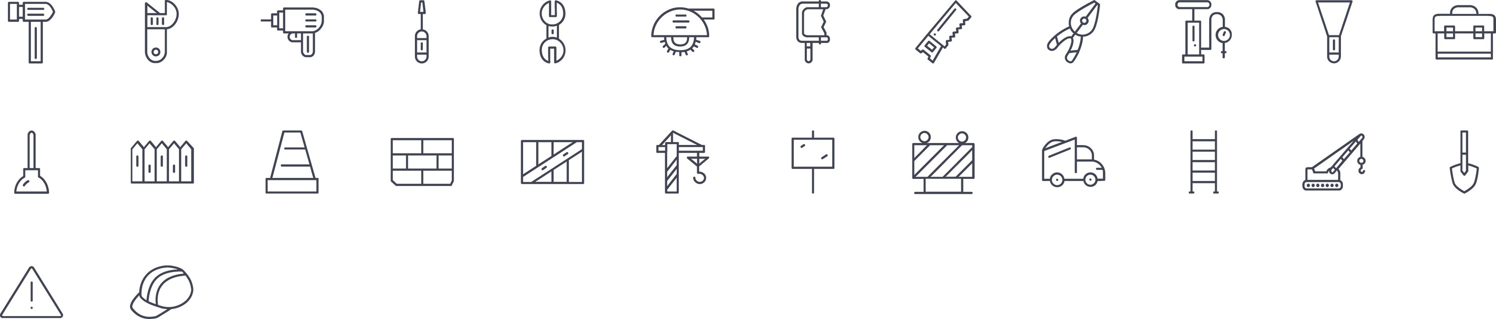 Maintenance Line Icons