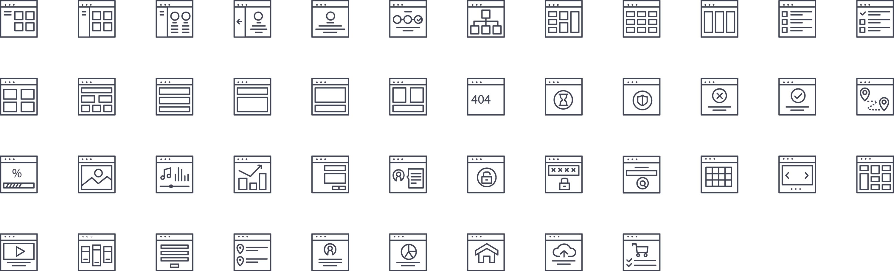 UI Design Line Icons