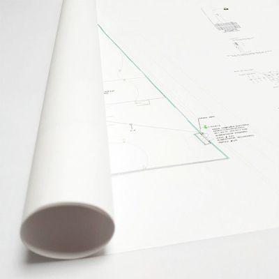ploteo de plano papel bond a color blanco y negro