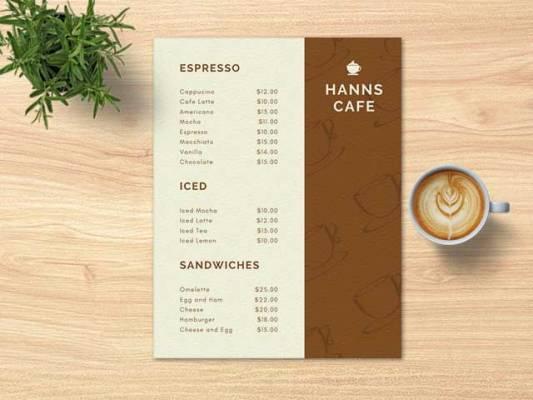 impresion de menu full color