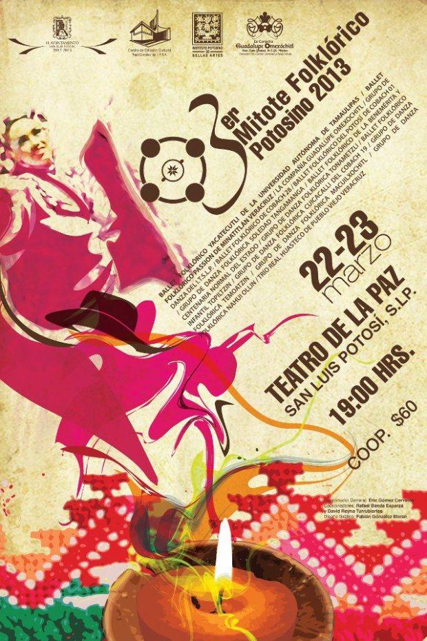 3er mitote folklorico potosino 2013-cartel