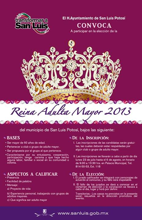 Reina Adulta Mayor 2013