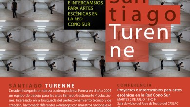 Photo of Santiago Turene – Proyectos e intercambios para Artes Escénicas en la Red Corno Sur (conferencia)