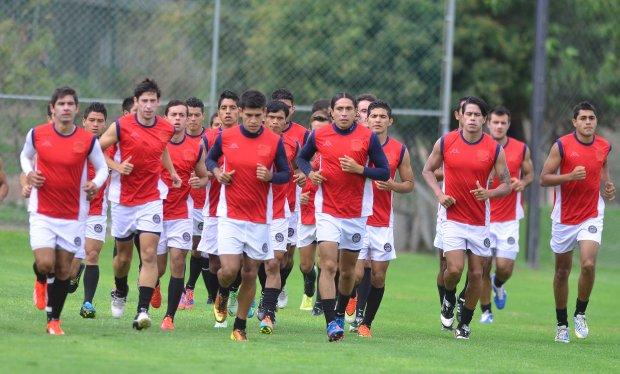 Atletico San Luis entrenando