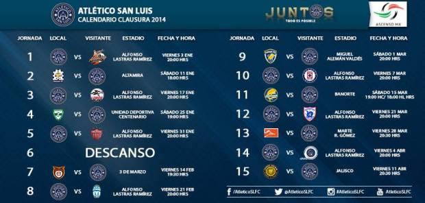 calendario liga C14