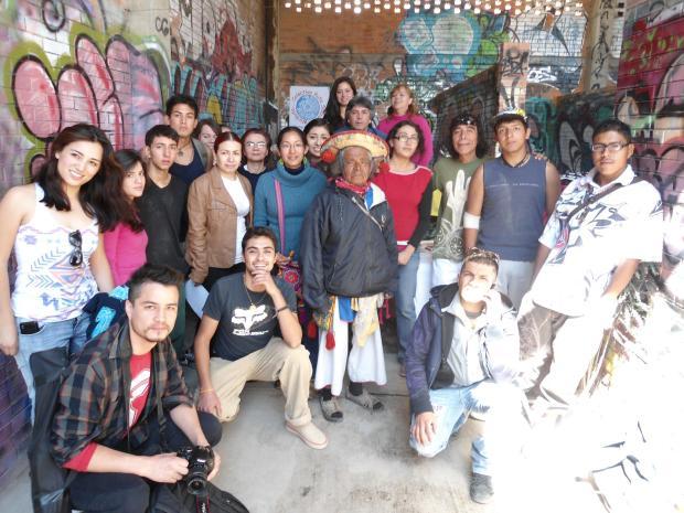 Integrantes del Colectivo Sauzalito-Wirikuta