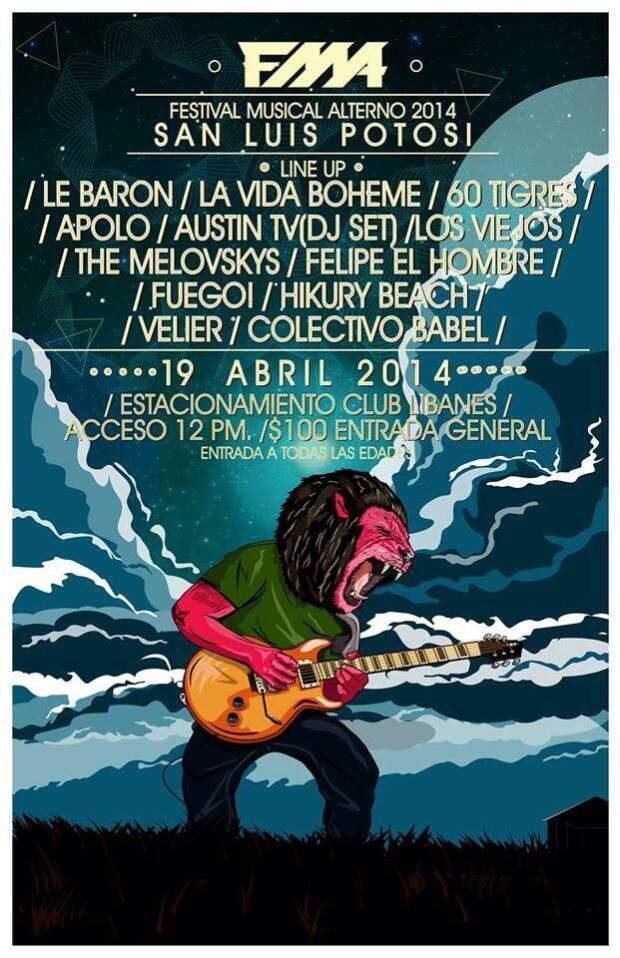 Festival Musical Alterno 2014 @ Club Libanés Potosino | San Luis Potosí | San Luis Potosí | México