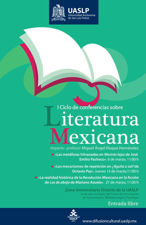 ciclo de conferencias literatura mexicana