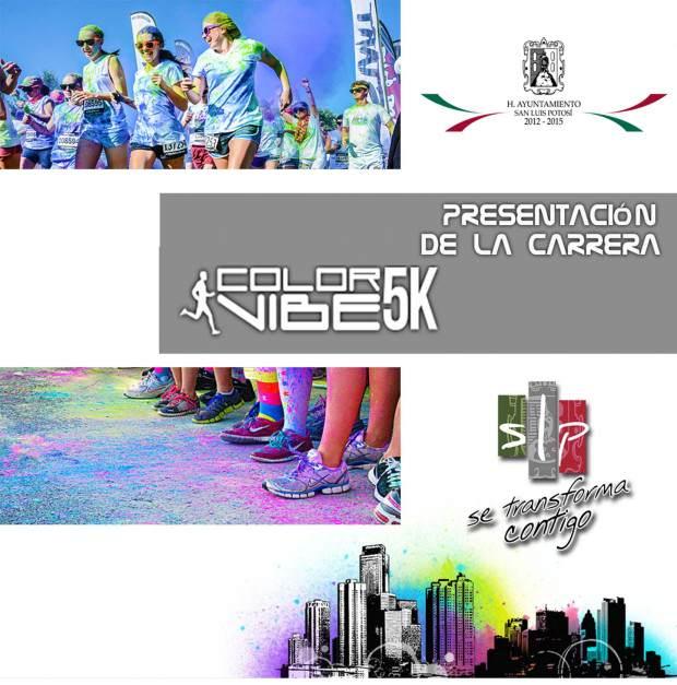 invitacion a la presentacion de la carrera Color Vibe 5k
