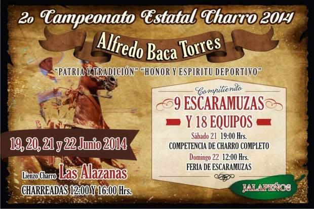 2do Campeonato Estatal Charro 2014 @ Lienzo Charro Las Alazanas